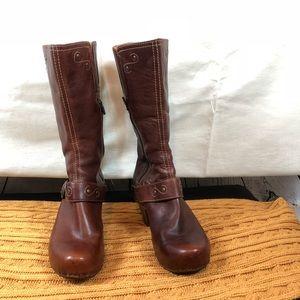 Dansko Rylan Crazy Horse Boots Brown Size 40 Clogs